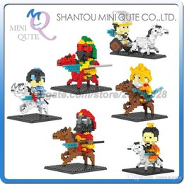 Wholesale DHL Mini Qute DR STAR Romance of the Three Kingdoms Liu Bei plastic building block brick model Action Figure educational toy