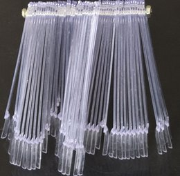 50PCS Transparent Clear False Nail Art Conseils Stick Display pratique Fan Board Fake ongles outils Set à partir de pratique bord du ventilateur clou fabricateur
