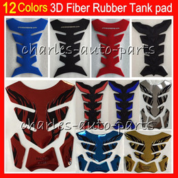 Wholesale 12 Colors D Rubber Gas Tank Pad Protector Tank stickers decals pads For For HONDA KAWASAKI SUZUKI YAMAHA DUCATI BMW TRIUMPH Agusta Aprilia