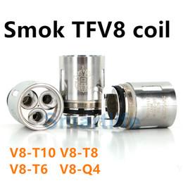 Mejor rba en Línea-Las bobinas superventas del tanque de la bestia de la nube de Smok TFV8 V8-T8 V8-T4 V8-T6 V8-X4 V8-RBA Bobinas Para Smoktech TFV8 Atomizer VS TFV12 bobinas