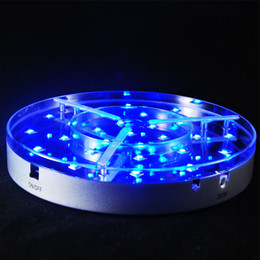 Rechargeable Battery Powered 100M Distance RF Remote Controlled Colorful RGB LED Under Table Light For Wedding Party Events Centerpiece