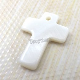 Fashion Shell Pendants Cross Shape 20x15mm White Color Shell Charms For DIY Free Shipping 100pcs