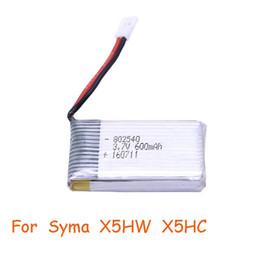 Li-ion Battery 3.7V 600mAh Lithium Lipo Polymer Rechargeable Lipo Battery for Syma X5hw X5hc X5 X54hw lowest price