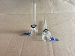 Wholesale Glass Slide Bowl Diameter 9mm for Glass Binger Bongs and Pipes Clear Slider Bowls with Blue Ear Restraints