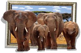 3D wall stickers Elephant group Stickers Dinosaur Christmas Sticker Shark 3D Waterproof fresco