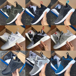 Wholesale With Original Box new High Quality Adult And Children NMD XR1 Glitch Black White Blue Camo Kids Runing Shoes