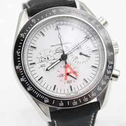 Al por mayor - Nueva marca de lujo de marcación blanca reloj de pulsera de correa negra de acero inoxidable negro puntero reloj mens moda Snoopy serie linda relojes