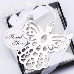 Wholesale PC Metal Bookmark with Tassel Wedding Souvenirs Book Markers Baby Shower Party Favors and Gifts Box Packaging