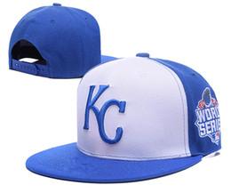2016 sombreros de los deportes de la ciudad Caliente Nueva llegada KC Kansas City Royals gorra de béisbol Front Logo ajustable sombrero sudor Adult Sport Cap con caja lh sombreros de los deportes de la ciudad en oferta