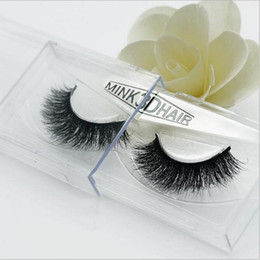 cils de scène Promotion Nouvelle annonce Mink False Eyelashes 1 Boîte 1 Paire Natural Long Messy Crisscross Epais Soft Fake Eyelashes Makeup Stage Lashes