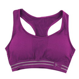 Wholesale Colorful Padded Bra - 2016Hot Sale Women Cotton Nylon Stretch Athletic Sprots bra no rims Full Cup padded bras colorful plus size lady tops women bra