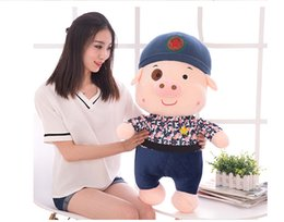 Wholesale Latest Cute Plush Toy McDull Pig quot Blue Lovely Figures High Quality Plush Dolls for Children Best Birthday Gift