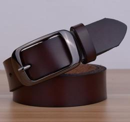 Femmes boucles de ceinture gros à vendre-Vente en gros et au détail Véritable cuir femmes ceinture de la mode vintage métal estampage ceintures de cuir pour femmes sangle femelle boucle