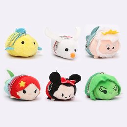 Wholesale 38styles EMS In Stock Lovely cm Mini Lovely TSUM TSUM toy Animal plush Doll Baby Toys Alice Cinderalla Snow white Plush Keychains