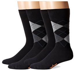 Haining quality popular colorful cotton men happy socks with argyle design