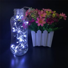2017 verre bouchons de vin 2M 20LED lampe bouchon en liège en forme de bouteille Verre léger en verre LED d'argent fil chaîne lumières pour les fournitures de fête de Noël Mariage LED Vase jardin promotion verre bouchons de vin