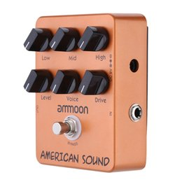 Wholesale ammoon AP American Sound Amp Simulator Guitar Effect Pedal True Bypass High Quality Guitar Parts Accessories