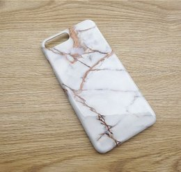 Wholesale Smoothing Plastic Phone Case - The New Iphone6 7 Mobile Phone Shell Gold Stone Marble Smooth Delicate Shell 7plus Mobile Phone Protective Sleeve
