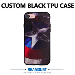 DIY Custom Design Own LOGO TPU Black Cover Case for Samsung s8 s8 plus for Samsung Note 3 Note 4 Note 5 Customize Printing photo picture