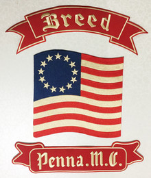 New Arrival Breed Penna. M.C Eembroidered Full Back of Jacket Biker Patch Iron On Sew On Vest Jeans Applique Badge Free Shipping
