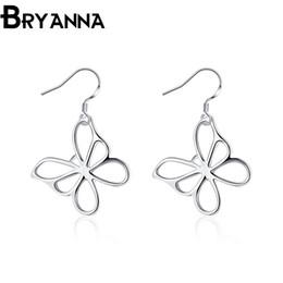 Bryanna 925 Sterling Silver Charm Earrings for women Fashion Jewelry Wholesale Wedding Gifts Butterfly Drop Earrings E2011