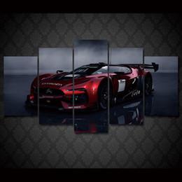 Descuento marcos de carreras 5 PC / coche de competición impreso HD enmarcado HD de Citroen que compite 5 pedazos de la pintura del cuadro del cartel de la impresión de la decoración del sitio de la pintura del grupo Envío libre / ny-811