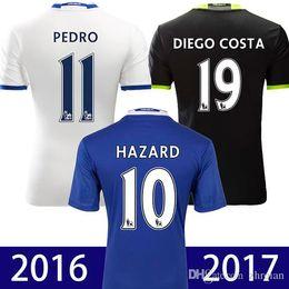 2016 2017 TOP Quality Chelsea Soccer Jerseys 16 17 Home Blue White black Third TERRY Willian HAZARD Pedro OSCAR DIEGO COSTA Football Shirts
