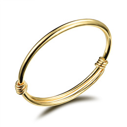 Wholesale New arrival Baby children bracelets bangle Copper plated gold bangle adjustable open bangles jewelry OKH486