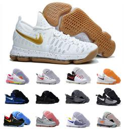 2016 Air Zoom KD 9 IX Hommes Chaussures de basket-ball de qualité supérieure Kevin Durant 9s KD9 Hommes Sport Training Sneakers Taille 7-12 à partir de kd chaussures hommes taille 12 fabricateur