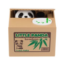 Wholesale Top Selling Stock Ready Automated Money Saving Box Itazura Coin Bank Cat Steal money box large piggy bank Panda moneybox