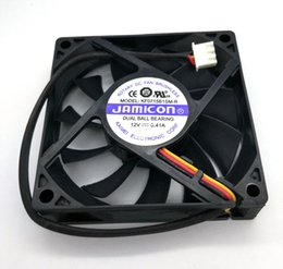 New Original JAMICON KF0715B1SM-R DC12V 0.41A 70*70*15MM 7CM Two Ball Bearing 3 Lines Cooling fan