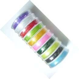 10Rolls lot Stretch Elastic Beading Cord Jewelry Findings Components For DIY Craft Fashion Jewelry Gift Free Shipping WS39