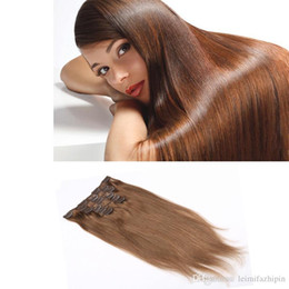 Resika Big Sale Brazilian Virgin Hair 10pcs 22clips 8A Grade Clip In Human Hair Extensions Crochet Straight Dyeable Wholesale Price