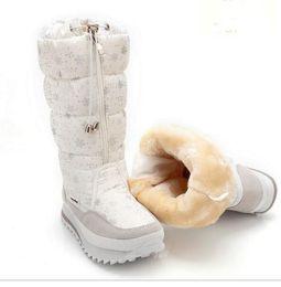 Niñas de arranque blanco en venta-Zapato caliente de la señora de la felpa de las nuevas mujeres del invierno de 2016 nuevas mujeres más tamaño 35 a la cremallera fácil del desgaste del tamaño 41 para arriba cargadores blancos de la nieve de la flor del color de la muchacha