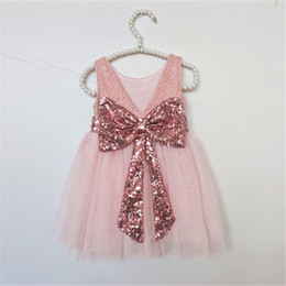 Wholesale Baby and Girls Lace Tutu Dress New Spring Summer Dresses Childrens Sleeveless for Kids Sequiry Party Vest Dress