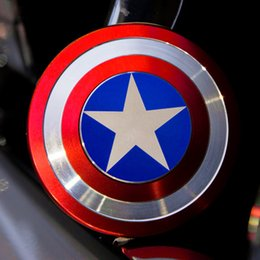 Wholesale The Anti Anxiety Spinner Fidget Toy Captain America Shield Helps Focusing for Kids Adults Stress Reducer Hand Spinner Ceramic Bearing