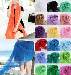 Wholesale New Lady Beauty Chiffon Wrap Dress Sarong Pareo Beach Bikini Swimwear Cover Up Scarf