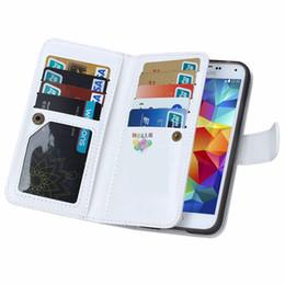 Wholesale Pour iphone en Portefeuille Housse en cuir Housse Avec magnétique Détachable Card Slots Phone Bag Pour Plus