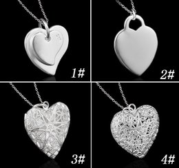 New Lovely Women 925 Sterling Silver love Pendant Necklaces Charms Heart Shaped Necklace Women Fashion Jewelry