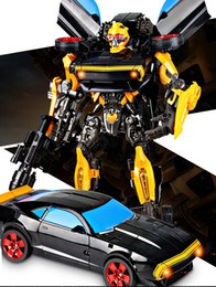Wholesale Educational Toy For Boys Transformer Car To Wasp Warrior Transformer Movable Robot Toy With Audio And Lights