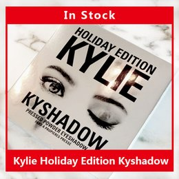 Wholesale In Stock HOT Holiday Edition Kylie Cosmetic Limited Collection Kyshadow Palette matte lipstick makeup bag creme shadow Christmas gift