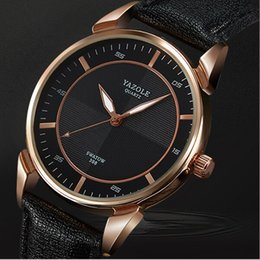 2017 best-selling brand YAZOLE watch white and black high quality men's fashion leather band quartz watch waterproof luminous watch