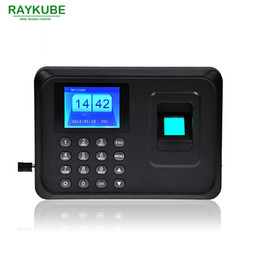 Machine à horloge d'empreinte digitale en Ligne-Vente en gros - RAYKUBE TFT Fingerprint Time Attendance Clock Recorder Employee Digital Office Time Attendance Machine R-FA6