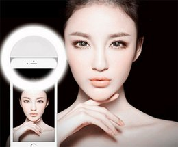 Wholesale 10pcs Selfie Portable LED Ring Fill Light Camera Photography For IPhone Android Phone