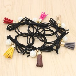 Jmyy Jewelry Mixcolor Elastic Bowknot Tassel Hair Rubber Bands Hair Jewelry For Women Hair Accessories Gift