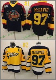 Wholesale Deluxe Edition CONNOR McDAVID black yellow Cheap Hockey Jerseys ICE Winter mens women kids Stitched Jersey