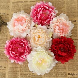 "5.9"" High quality Large Silk Peony Flower Heads Wedding Party Decoration Artificial Simulation Silk Peony Camellia Rose Flower Wall Wedding"
