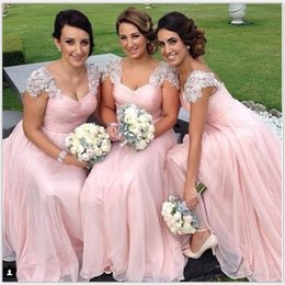 Free Shippping Cheap Bridesmaid Dresses A-Line Long Length Chiffon Wedding Guest Dress Party Cheap Sexy Bridesmaid Gowns