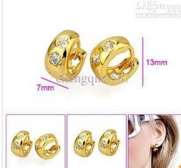 13mm Huggies 9K 9CT Yellow Gold Filled Hoops Earrings