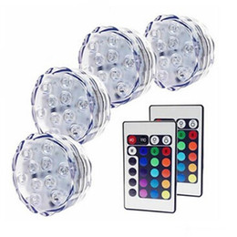 LED Submersible Light RGB Remote Control Light Waterproof LED Candle Light Submersible Lamp Vases Base Lamp Valentine's day Gifts